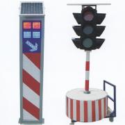 太阳能警示柱、临时信号灯